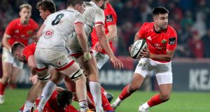 Munster's Conor Murray in action during their win over Ulster at Thomond Park. Photograph:  Dan Sheridan/Inpho