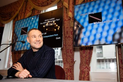 ON TOUR: David Gray in the Metropole Hotel, Cork for the announcement of his show in Independent Park, Cork as part of the White Ladder 20th Anniversary Tour. Photograph: Darragh Kane