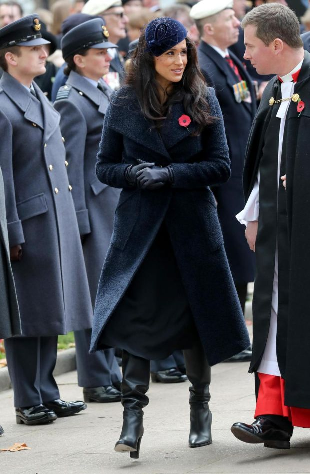 Meghan Markle, duchess of Sussex attends the 91st Field of Remembrance at Westminster Abbey. Photograph: Chris Jackson/Getty Images