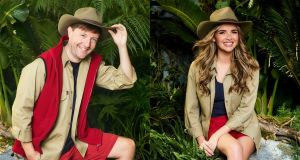 Irish contestants: Andrew Maxwell and Nadine Coyle are taking part in I'm a Celebrity. Photographs: ITV/PA Wire