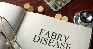 Fabry disease is a rare condition  where the body does not break down a particular type of fat, which then builds up in cells of blood vessels and organs