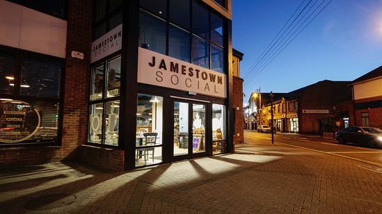 Jamestown Social, opened last year on Seamus Ennis Road, is a cafe/food hall with a great buzz and menu to match