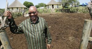 Jacob Zuma at his homestead in Nkandla back in  2007: has  said he does not have the money to pay his debts. Photograph: Simphiwe Nkwali/Sunday Times