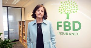 FBD chief executive Fiona Muldoon. Shares in the insurance company fell 0.7 per cent to €8.50 after the Central Bank told an Oireachtas committee the bank would look at ways of banning home and motor policy dual pricing