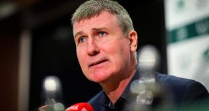 Republic of Ireland Under 21 manager Stephen Kenny: 'I'm happy with what I have. We have a depth to the squad, I feel.' Photograph: Oisin Keniry/Inpho