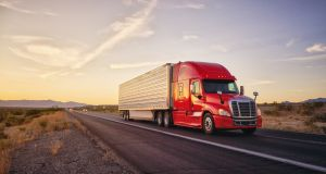 Some $800 billion is spent annually on trucking services in the US