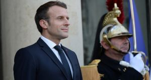 "French president Emmanuel Macron told the Economist that ""we are currently experiencing . . . the brain death of Nato"" and Europe ""must regain military sovereignty"". Photograph: Johanna Geron/Reuters"