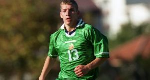 Ronnie O'Brien playing for the Republic of Ireland Under-21s. Photograph: Lorraine O'Sullivan/Inpho