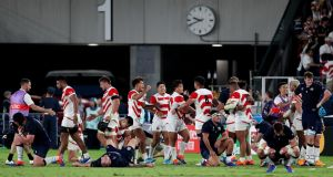 Scotland were knocked out of the Rugby World Cup by hosts Japan. Photograph: Craig Mercer/Inpho