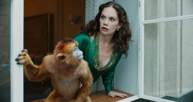 His Dark Materials: Ruth Wilson as Mrs Coulter and her golden monkey
