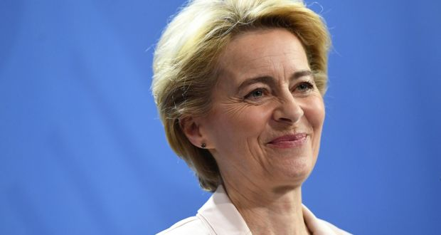 European Commission president-elect Ursula von der Leyen: Wrote twice to British prime minister Boris Johnson asking him to make the nomination. Photograph: Annegret Hilse/Reuters