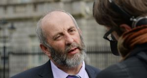 'I'm asking you to provide a permit for the people who are only travelling on local rural class three roads so they can have their two pints and drive home on those roads.' Danny Healy-Rae told the Dáil. Photograph: Alan Betson