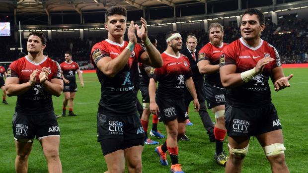 Toulouse played as only they can. Offloading, counter-attacking, gathering chip kicks all leading to beautiful tries. They appear to again be quarter-final bound. Photograph: Remy Gabalda/AFP