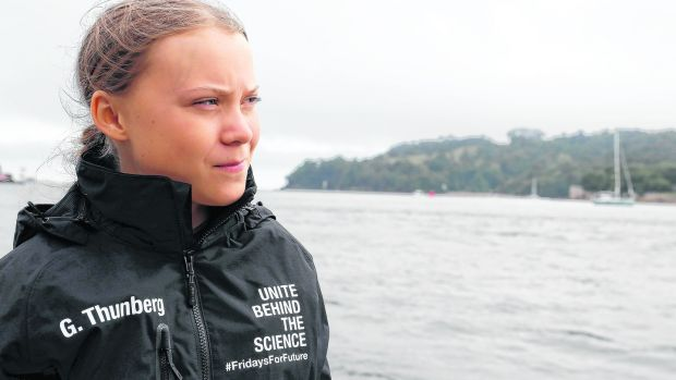 Flight shame fuelled by environmental concern is what drives the campaigner Greta Thurnberg to keep traversing the Atlantic Ocean in boats. Photograph: Kirsty Wigglesworth/AFP/Getty Images