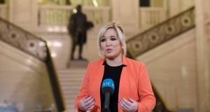 Sinn Féin's vice-president Michelle O'Neill says she 'would never take the membership for granted'. Photograph: Michael Cooper/PA Wire