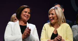 Sinn Féin president Mary Lou McDonald and vice-president Michelle O'Neill were clearly meant to at least refresh the appearance of the old firm of Adams and McGuinness. Photograph: Charles McQuillan/Getty Images