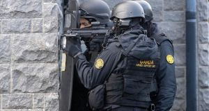 The Garda Armed Support Unit was drafted into Longford Town to aid policing of the dispute involving several Traveller groups in June. File photograph: Colin Keegan