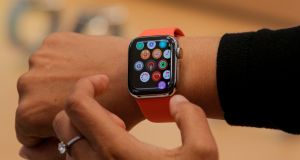 Apple wants to collect healthcare data from customers by harvesting information from its base of Apple Watch and iPhone users through the Research app. Photograph: Brendan McDermid/Reuters