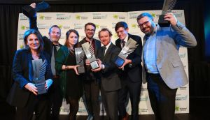 Irish Times winners at the News Brands Ireland Journalism Awards 2019 ceremony in the Mansion House. Photograph by Crispin Rodwell