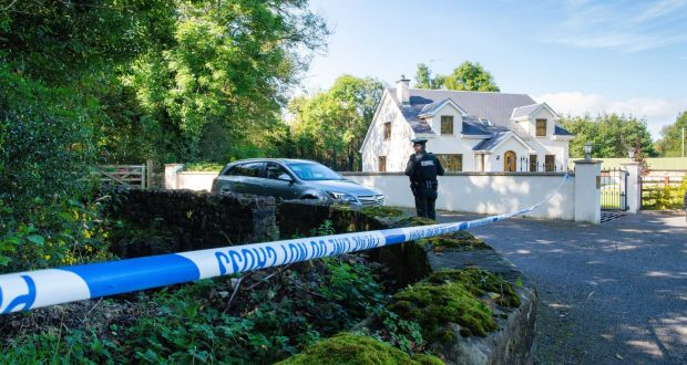 The laneway where Quinn Industrial Holdings director Kevin Lunney was abducted is cordoned off by PSNI. Photograph: Ronan McGrade/Pacemaker