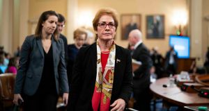Marie Yovanovitch, the former United States ambassador to Ukraine, during a break in her testimony before the House Intelligence Committee in Washington,. Photograph: Doug Mills/The New York Times