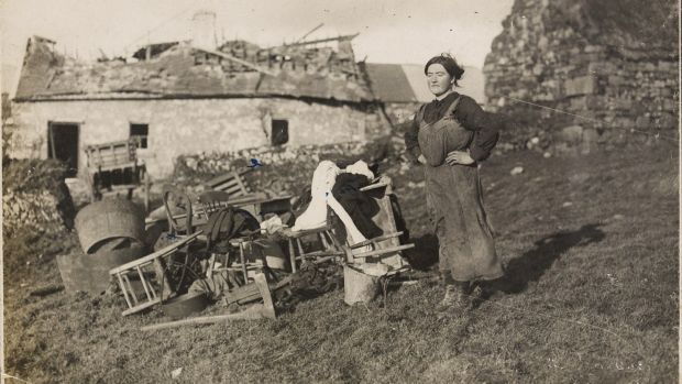 Miss Brown at Meelin, January 1921. Photograph: WD Hogan/National Library of Ireland