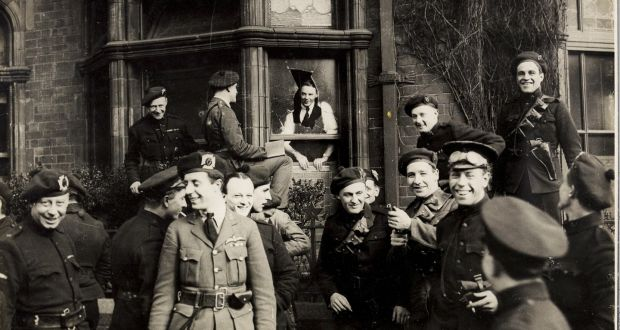 Auxiliaries celebrate in April 1921. Photograph: WD Hogan/National Library of Ireland