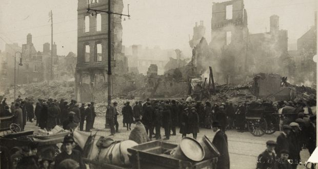 The burning of Cork in 1920. Photograph: WD Hogan/National Library of Ireland