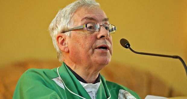 Turbulent priest? Fr Oliver O'Reilly delivers a sermon condeming the attack on Kevin Lunney at Our Lady of Lourdes Church, Ballyconnell. Photograph: Lorraine Teevan