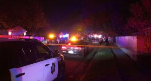 Several people have died and at least nine people were shot at a party in Fresno, California. Photograph: ABC30 Fresno/Twitter.
