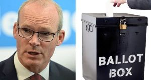 Simon Coveney: Border poll not appropriate at this difficult time.