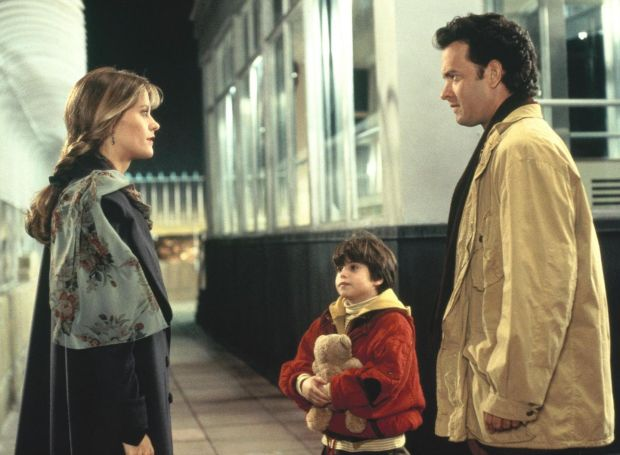 Tom Hanks with Meg Ryan and Ross Malinger in Sleepless in Seattle