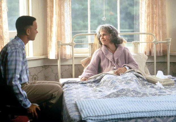 Tom Hanks with Sally Field in Forrest Gump