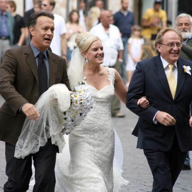 Tom Hanks escorts the bride to the Pantheon in Rome in 2008. Photograph: Elisabetta A Villa/WireImage/Getty
