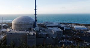 The construction of the third-generation pressurised water reactor  at Flamanville in northwestern France. Photograph: Charly Triballeau/AFP via Getty Images
