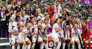 Lyon are going for a five-in-a-row in the Women's Champions League after their victory over Barcelona in last year's final. Photograph: Getty Images.