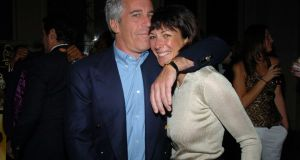 Jeffrey Epstein and Ghislaine Maxwell in New York in  2005. Photograph:  Joe Schildhorn/Patrick McMullan via Getty Images