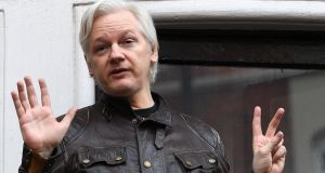 Wikileaks founder Julian Assange  has repeatedly denied the allegation against him, made in 2010. Photograph: Neill Hall/EPA