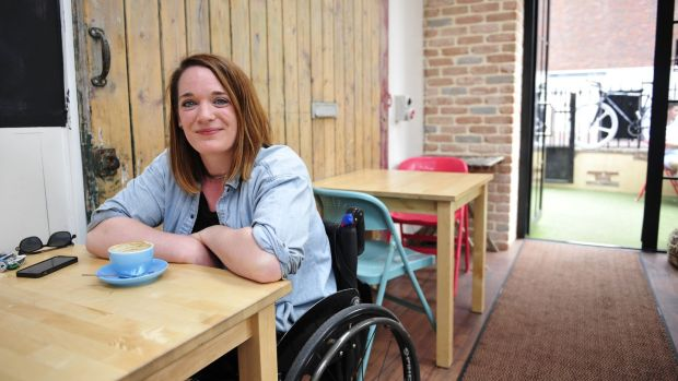 Journalist Louise Bruton has chipped away at the glass ceiling of disability with her cleverly named Legless in Dublin blog. File photograph: Aidan Crawley