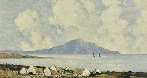 Paul Henry's Clare Island from Achill sold for €175,103. Photograph: Sotheby's