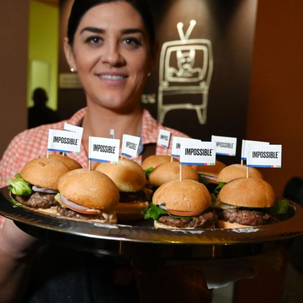 Impossible Foods makes Impossible Burgers. Photograph: Robyn Beck/AFP via Getty