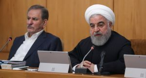 "Iranian president Hassan Rouhani: ""The spontaneous [pro-government] demonstrations which you see are the greatest sign of the power of the Iranian people,"" he said.  Photograph: Official President website/Handout via Reuters"