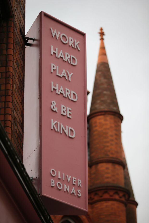 Oliver Bonas: the company motto is Work Hard, Play Hard & Be Kind. Photograph: Nick Bradshaw