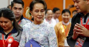 Myanmar's Aung San Suu Kyi: former political prisoner has drawn heavy external criticism over her response to the military crackdown in western Myanmar. Photograph: Nyein Chan Naing