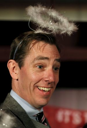 ANGELIC: RTÉ presenter Ryan Tubridy at the launch of the St Vincent de Paul annual appeal at their headquarters in Dublin. Photograph: Brian Lawless/PA Wire