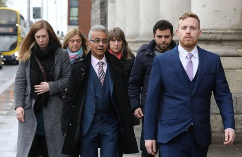 HSE APOLOGY: Family of the late Natasha Perie pictured at the Four Courts for a High Court action. They received an apology from a hospital and the HSE after Ms Perie was kept on life support for almost four weeks due to concerns about the Eighth Amendment. Photograph: Collins Courts