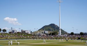 The Bay Oval at Mount Maunganui, where New Zealand are hosting England in the first match of a two-Test series. Photograph: Phil Walter/Getty