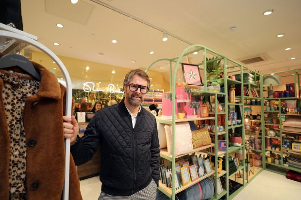Oliver Bonas: company founder Oliver Tress at the design chain's new store in Dublin. Photograph: Nick Bradshaw