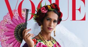 Estrella Vazquez wearing a traditional dress on the cover of Vogue Mexico in December. Photograph: Vogue/EPA
