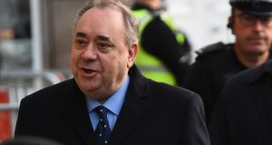 "Former Scottish first minister  Alex Salmond: ""I refute these allegations of criminality and I will defend myself to the utmost in court,"" he said.  Photograph:   Andy Buchanan/AFP via Getty Images"